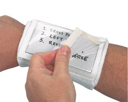 Markwort Three Window Play Card Holder Wristband -White