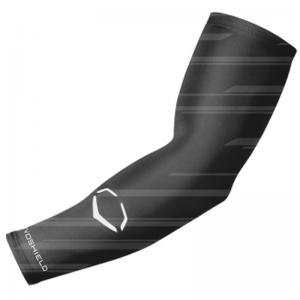 Evoshield Evo Speed Stripe Compression Arm Sleeve (Black/Grey)