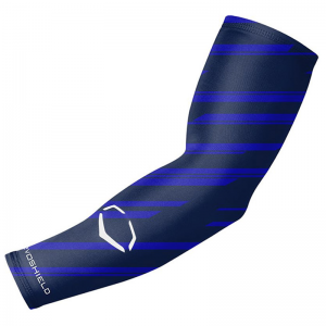 Evoshield Evo Speed Stripe Compression Baseball Arm Sleeve (Navy)