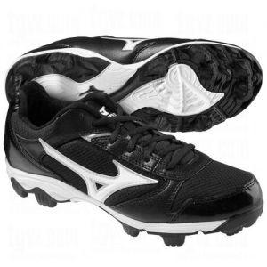 Mizuno Softball Finch Franchise 4 Molded Cleats Black/White (US Sizes)