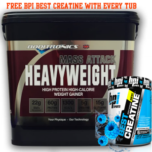 Boditronics Mass Attack Heavyweight (6kg) Mass Gainer + Free BPI CREATINE