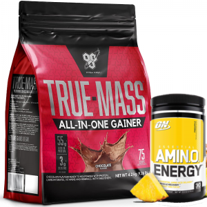 BSN True Mass All In One Weight Gainer + Fee ON Amino Energy