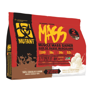 Mutant Mass Gainer 2.72 kg | Dual Chamber 2 Flavours 1 On Each Side