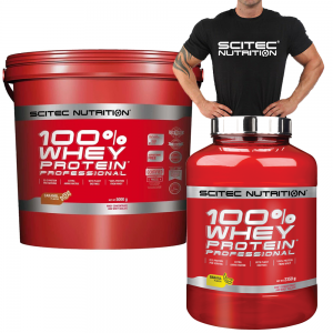 Scitec Nutrition 100% Whey Protein Professional With Free T-Shirt