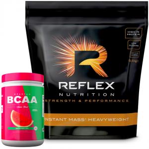 Reflex Nutrition Instant Mass Heavyweight Gainer 5.4Kg Plus Free BCAA