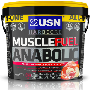 USN Muscle Fuel Anabolic All in One Lean Muscle Gain Shake Powder Protein 4kg