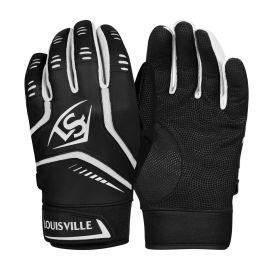 Louisville Slugger Adult Omaha Batting Gloves - Black