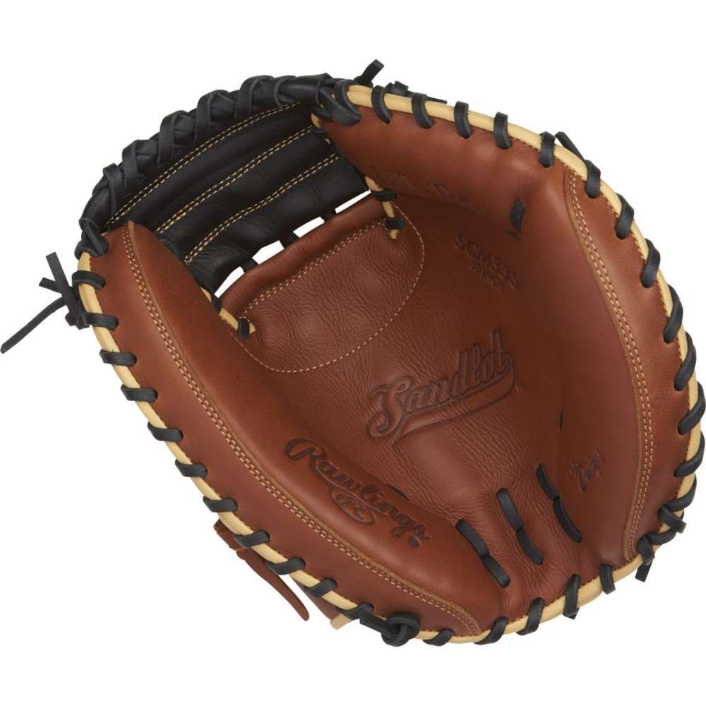 Rawlings SCM33S Heritage™ Pro Series 33 Inch Catchers Mitt - Right Hand Thrower